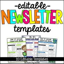 Teachers Newsletter Templates Editable Newsletter Templates