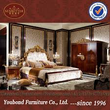 european classic luxury wooden carving bedroom furniture set