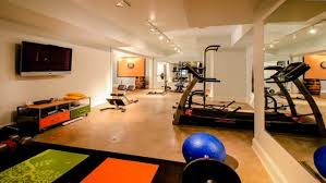 home gym lighting. track lighting with interior paint color and tile floors also gym equipments for home ideas