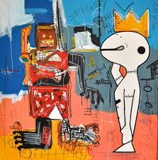 contemporary art inspired by jean michel basquiat painting oil on canvas wall art abstract high quality hand painted