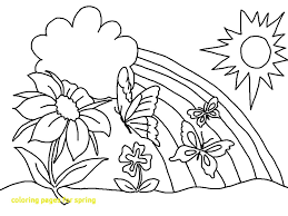 spring pictures to color. Exellent Spring Coloring Pages For Spring With 7 Kids Color Throughout Pictures To