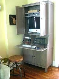 hidden desk furniture. Corner Armoire Desk Dining Room Furniture Great For Computer Hidden Desks White