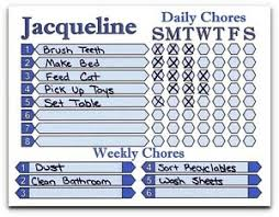 Details About Daily Weekly Chore Chart For Kids To Adults Use As Dry Erase Board Custom Name