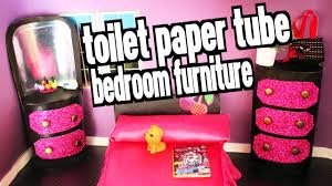 How To Make Bedroom Furniture How To Make Bedroom Furniture For Your Dolls With Toilet Paper
