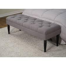 grey tufted bench. Plain Grey Claudia Diamond Wale Grey Tufted Bench To Overstockcom