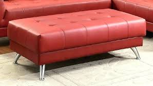 charming leather and metal ottoman rectangular ottoman with metal legs leather brilliant coffee table large leather