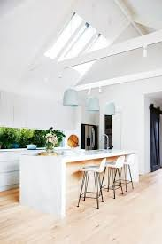 skylight lighting ideas. beautiful modern white kitchen with sky lights and breakfast bar life after the block dee darrenu0027s latest home project skylight lighting ideas l