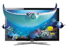 samsung 3d tv. samsung 3d tv with effect representing technology 3d tv