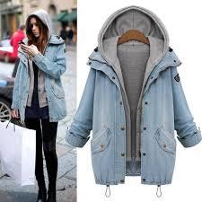 whole fashion winter coats women hoo denim jackets women oversized coat zipper pocket on overcoat hooded outerwear 4xl nylon jacket women leather