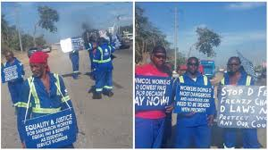 Sanitation Worker Job Description Sanitation Workers Carry Out Strike Action At Landfills