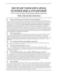 summer job resume sample - Sample Resume For Summer Internship