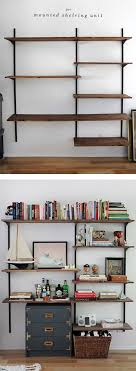 home office bookshelves. diy mounted shelving apartment bookshelvesoffice home office bookshelves