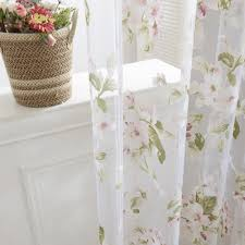 drapes with valance. Orchid Flower Sheer Curtains Window Screen Gauze Door Scarf Drapes Valance For Room Decor (Pink) With