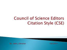 Cse Citation Style