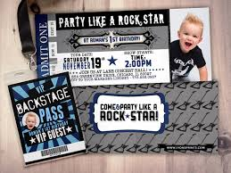 Concert Ticket Invitations ROCK STAR concert ticket birthday party invitation Music 1