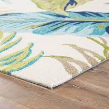 jaipur living fraise indoor outdoor fl blue green area rug tropical outdoor rugs by jaipur living