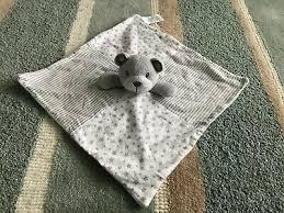 matalan white grey stars stripe teddy
