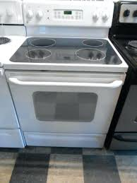 range glass top appliance city inch free standing self clean electric ran glass top 4 burner range glass top