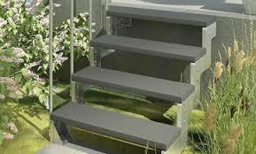 Treppe aussen haus eingang podest naturstein granit beton stufe tritt grünlich. Aussentreppen Bei Hornbach Kaufen