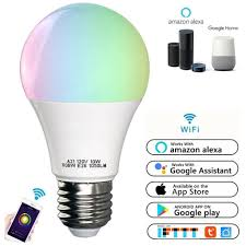 Walmart Alexa Light Bulbs Wifi Smart Led Light Bulb Works With Alexa Smartphone