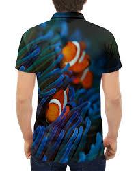 Рубашка Поло с полной запечаткой <b>Семейка Клоунфиш</b> #3038440