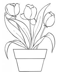 Small Picture Flower Pot Coloring Page Pertaining To Really Encourage In Within