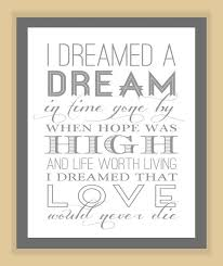 Les Miserables I DREAMED a DREAM Quote modern by modernhomeprints