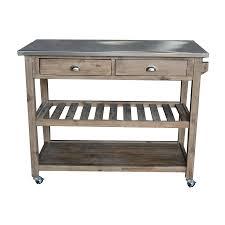 boraam industries brown rustic kitchen cart