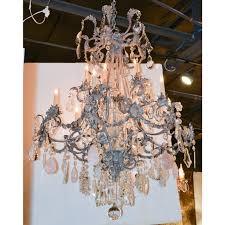 custom made crystal rose quartz chandelier