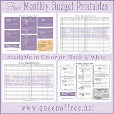 simple printable budget worksheet free printable budget forms queen of free