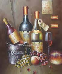 painting with wine inspirational object moved