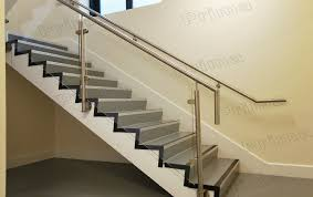 side mounted stainless steel post glass railing for staircase railing