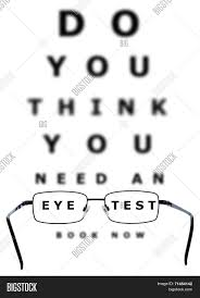 Blurry Eye Test Chart Eye Test Chart Glasses Image Photo Free Trial Bigstock