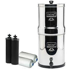 berkey water filter fluoride. Travel Berkey Filter Bundle 1½ Gallons Black Carbon \u0026 White Fluoride FIlters; Water