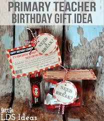 lds primary teacher birthday gift