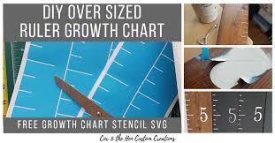 Diy Growth Chart Stencil Diy Over Sized Ruler Growth Chart Cox The Hen Custom