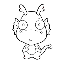 585x600 dragon drawing template 13 free pdf doents free