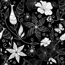 Black Patterns Stunning Black And White Floral Pattern Free Vector Download 4848 Free