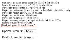 3 To 2 Blackjack Payout Chart Blackjack Payout Change Business Insider