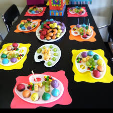 have an artistic birthday party at a local pottery or art studio send each guest home with their own creation as a party favor