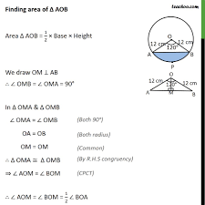 Ex 12 2 7 A Chord Of Circle Of Radius 12 Cm Subtends 120