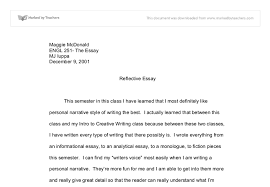 writing reflective essay examples com writing reflective essay examples