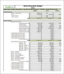 Basic Renovation Budget Template 4 Renovation Budget
