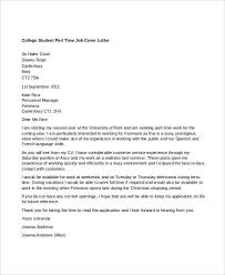 Part Time Job Cover Letter Templates Free Sample Example With Regard