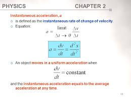 11 instantaneous acceleration