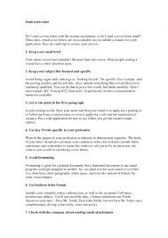 Cover Letter Email Format   Best Business Template