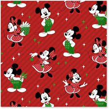 Disney Mickey And Minnie Jumbo Christmas Wrapping Paper Roll 80