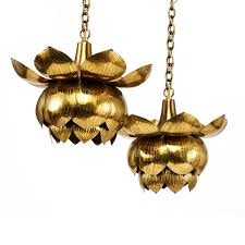 feldman brass lotus fixtures