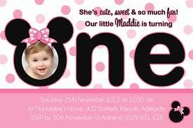 baby mickey mouse invitations birthday free minnie mouse 1st birthday invitations templates amazing