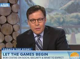 Bob Costas has pink eye and is wearing glasses in Sochi | Larry ... via Relatably.com